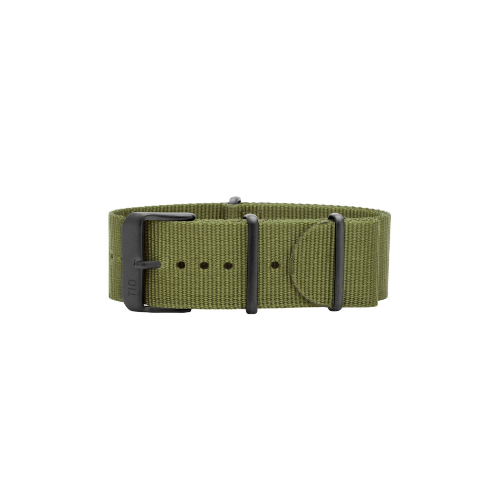 サムネイル:Green Nylon Wristband / Black buckle TID Watches ティッドウォッチ