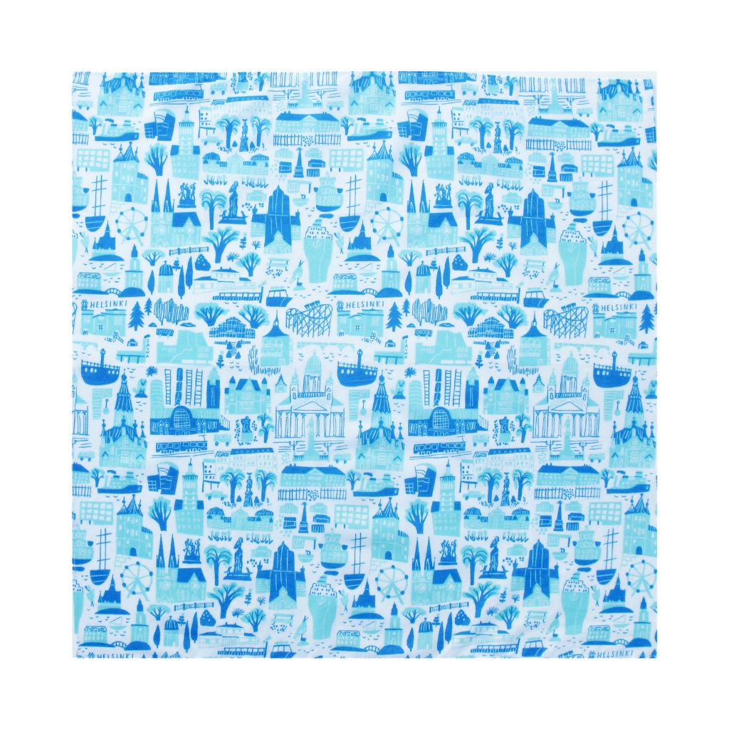 サムネイル:ハンカチ Helsinki ブルー kauniste(カウニステ)