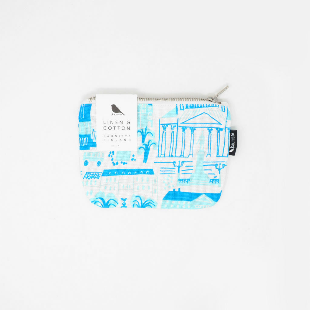 サムネイル:ジッパーポーチ S Helsinki ブルー kauniste(カウニステ)