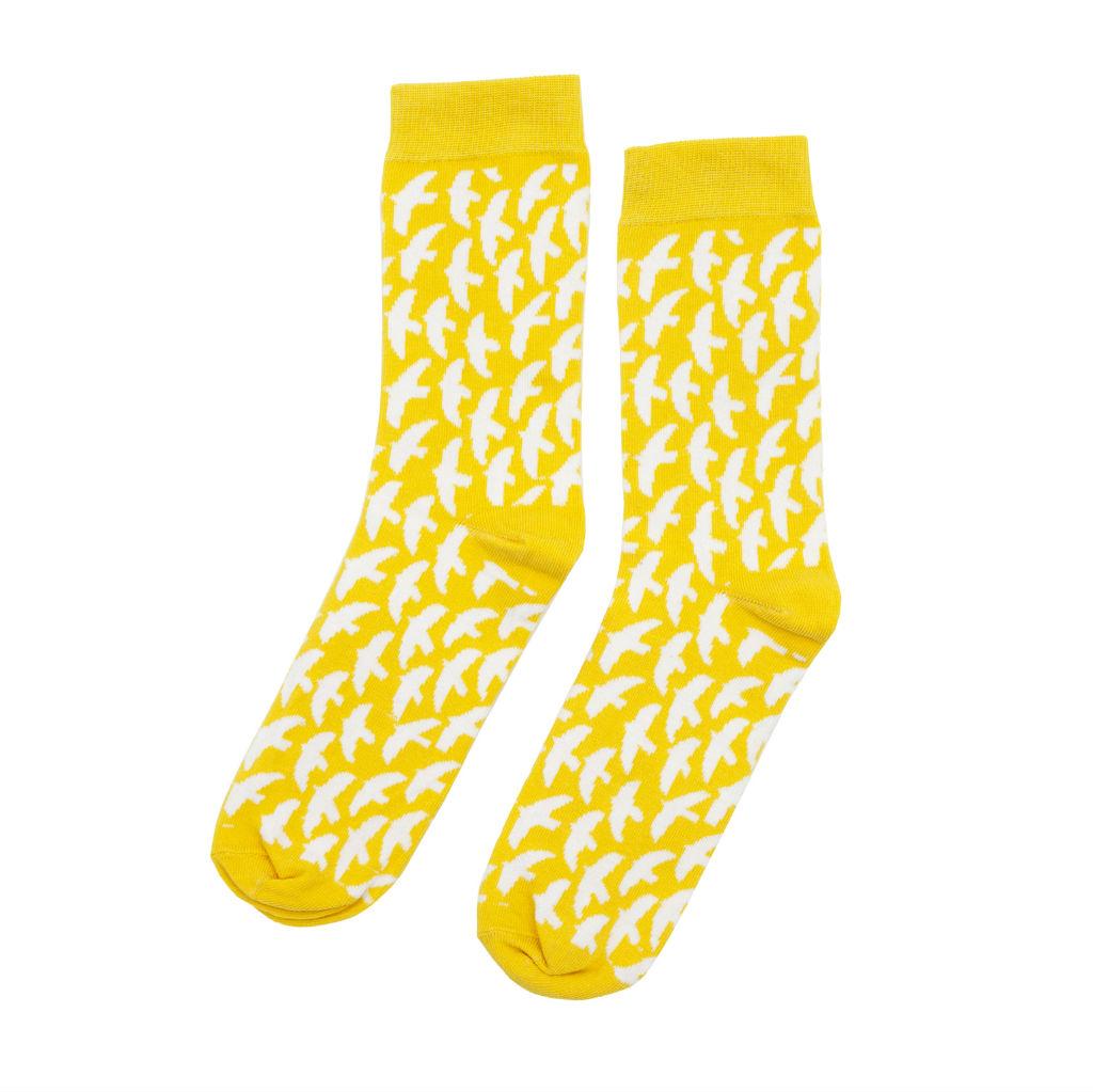 サムネイル:ソックス Lintuset yellow kauniste(カウニステ)