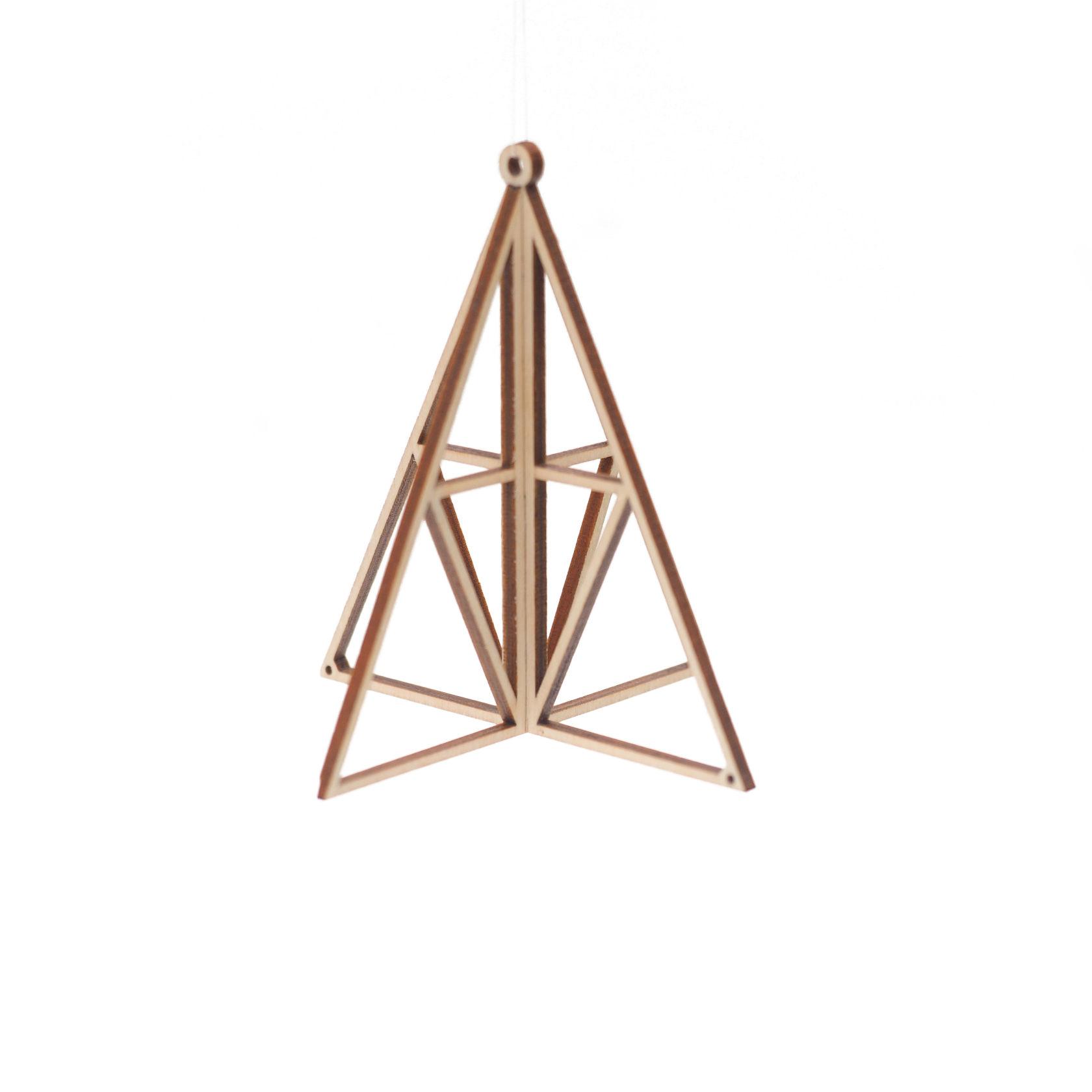 kito16 白樺のオーナメント ピラミッド