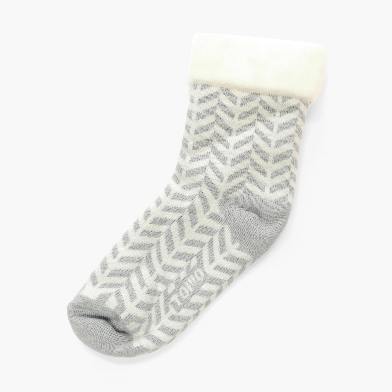 サムネイル:(10/12入荷後の発送)TOIVO(フィンランド製モコモコソックス)herringbone オフホワイト