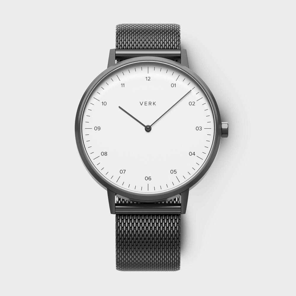 サムネイル:腕時計 ETT09 ホワイト ガンメタル メッシュ(VERK / ベルク)