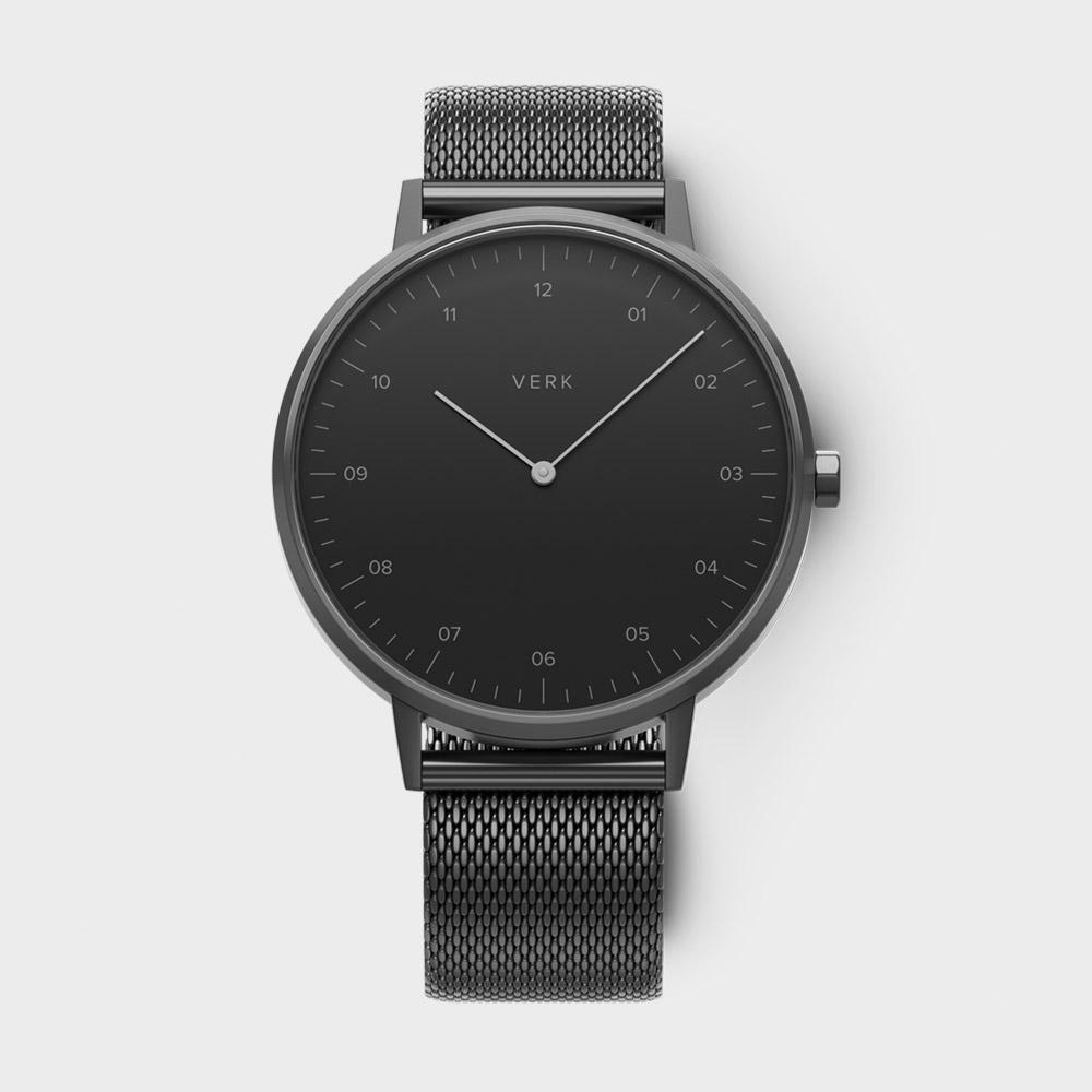 サムネイル:腕時計 ETT09 ブラック ガンメタル メッシュ(VERK / ベルク)