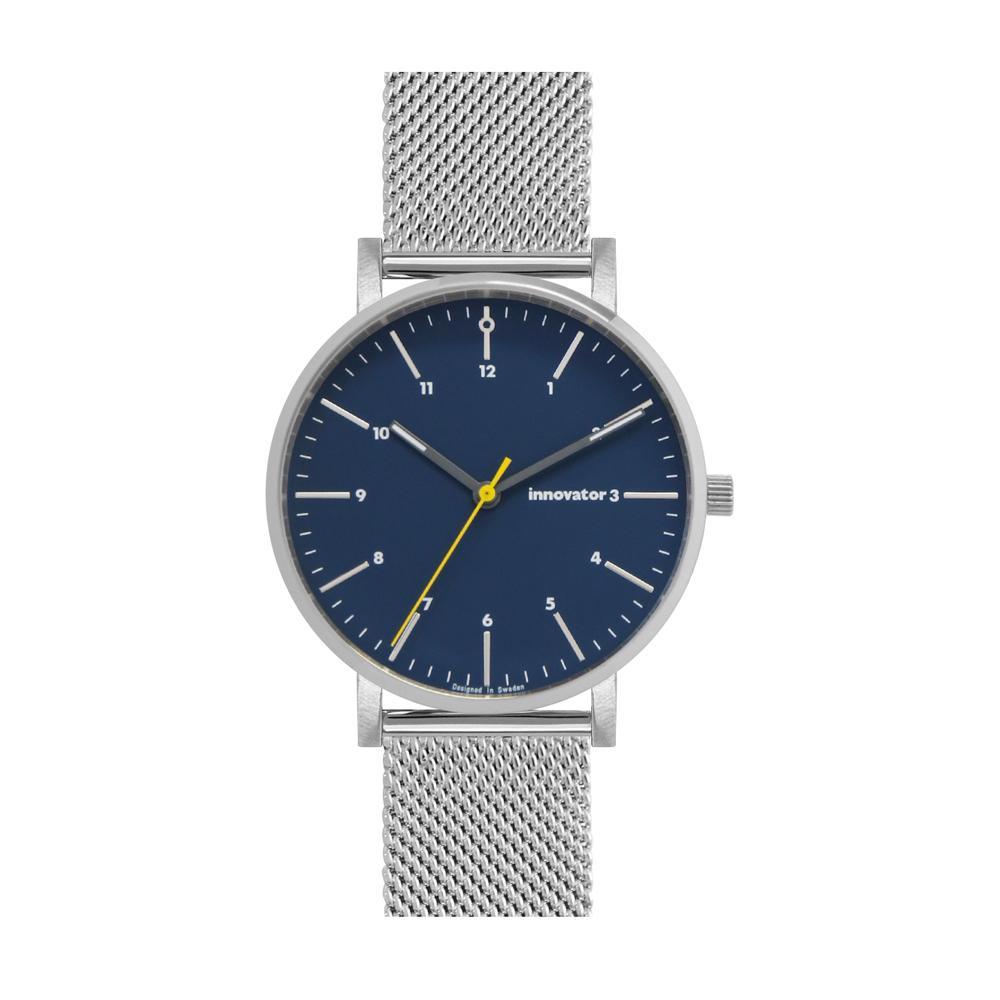 サムネイル:腕時計 エンケルメッシュ 38mm シルバー × ブルー(innovator / イノベーター)