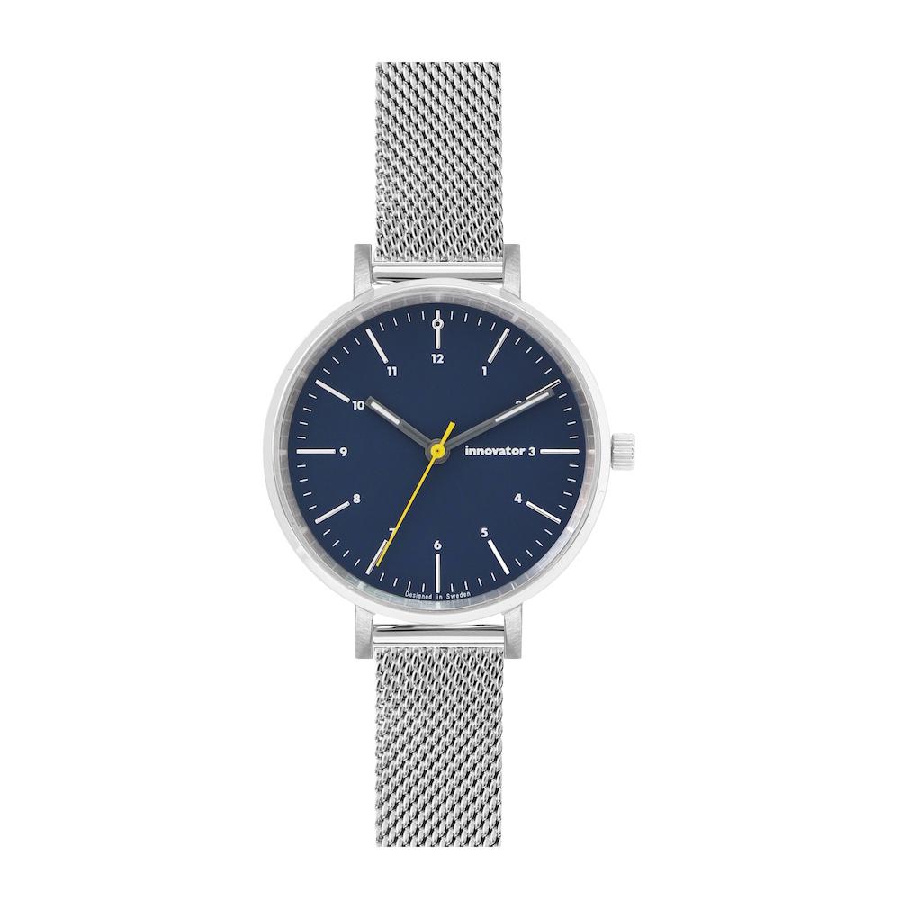 サムネイル:腕時計 エンケルメッシュ 32mm シルバー × ブルー(innovator / イノベーター)