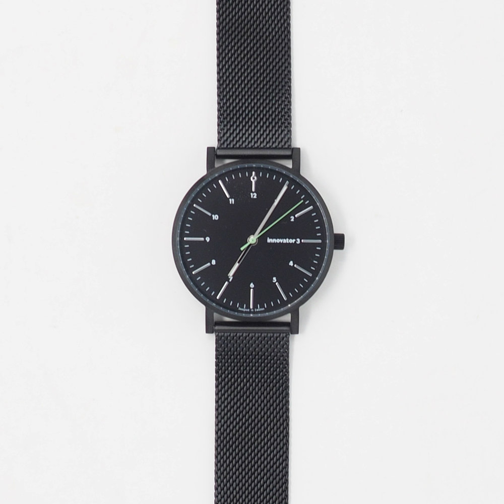 サムネイル:腕時計 エンケルメッシュ ブラック 38mm(innovator / イノベーター)
