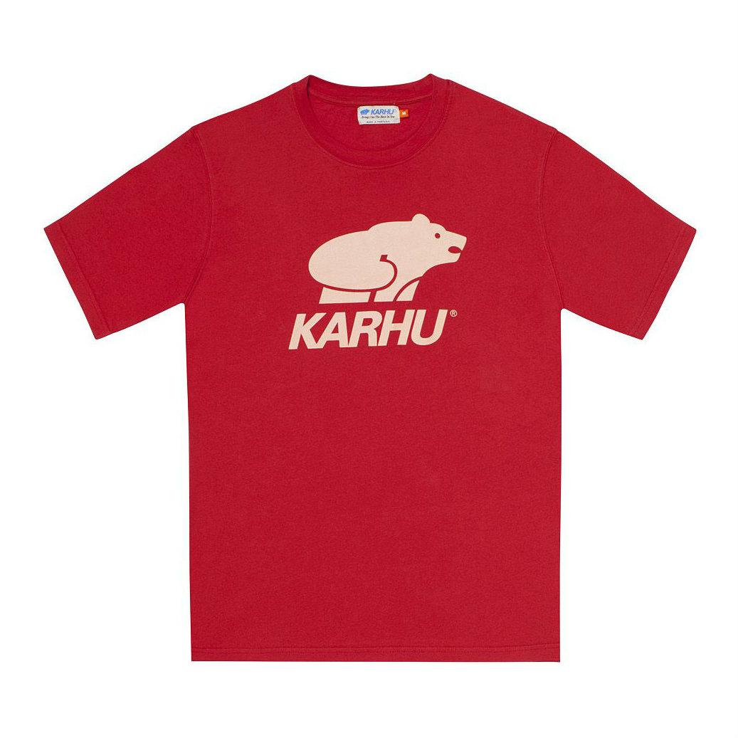 サムネイル:BasicLogo T-shirt バルバドスレッド / ミューテッドクレイ(KARHU カルフ アパレル)