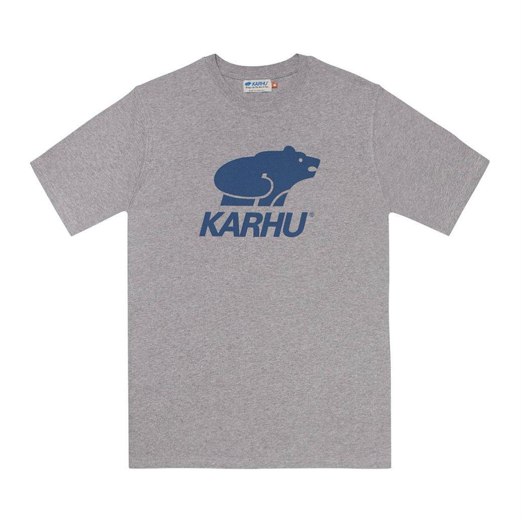 サムネイル:BasicLogo T-shirt ヘザーグレイ / ネイビー(KARHU カルフ アパレル)