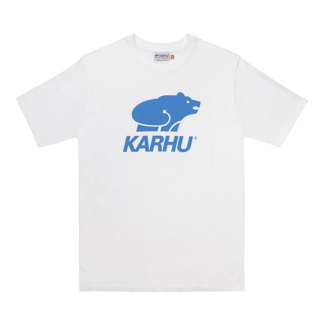 サムネイル:BasicLogo T-shirt ホワイト / ロイヤル(KARHU カルフ アパレル)