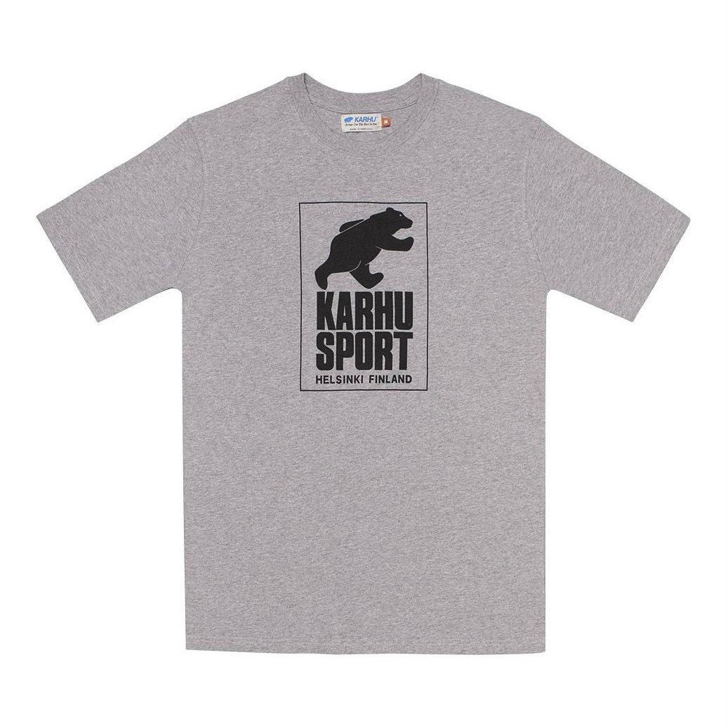 サムネイル:HelsinkiSport T-shirt ヘザーグレイ / ブラック(KARHU カルフ アパレル)