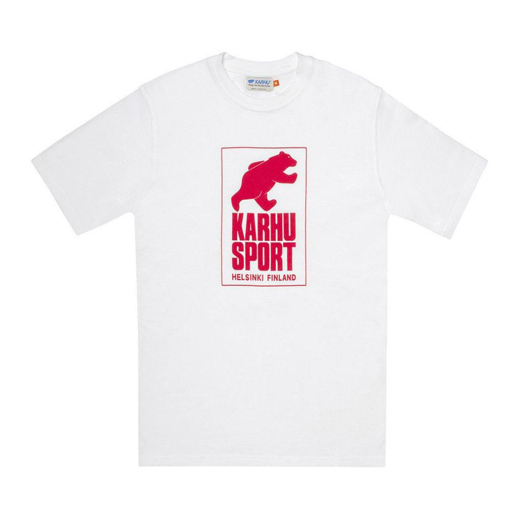 サムネイル:HelsinkiSport T-shirt ホワイト / レッド(KARHU カルフ アパレル)