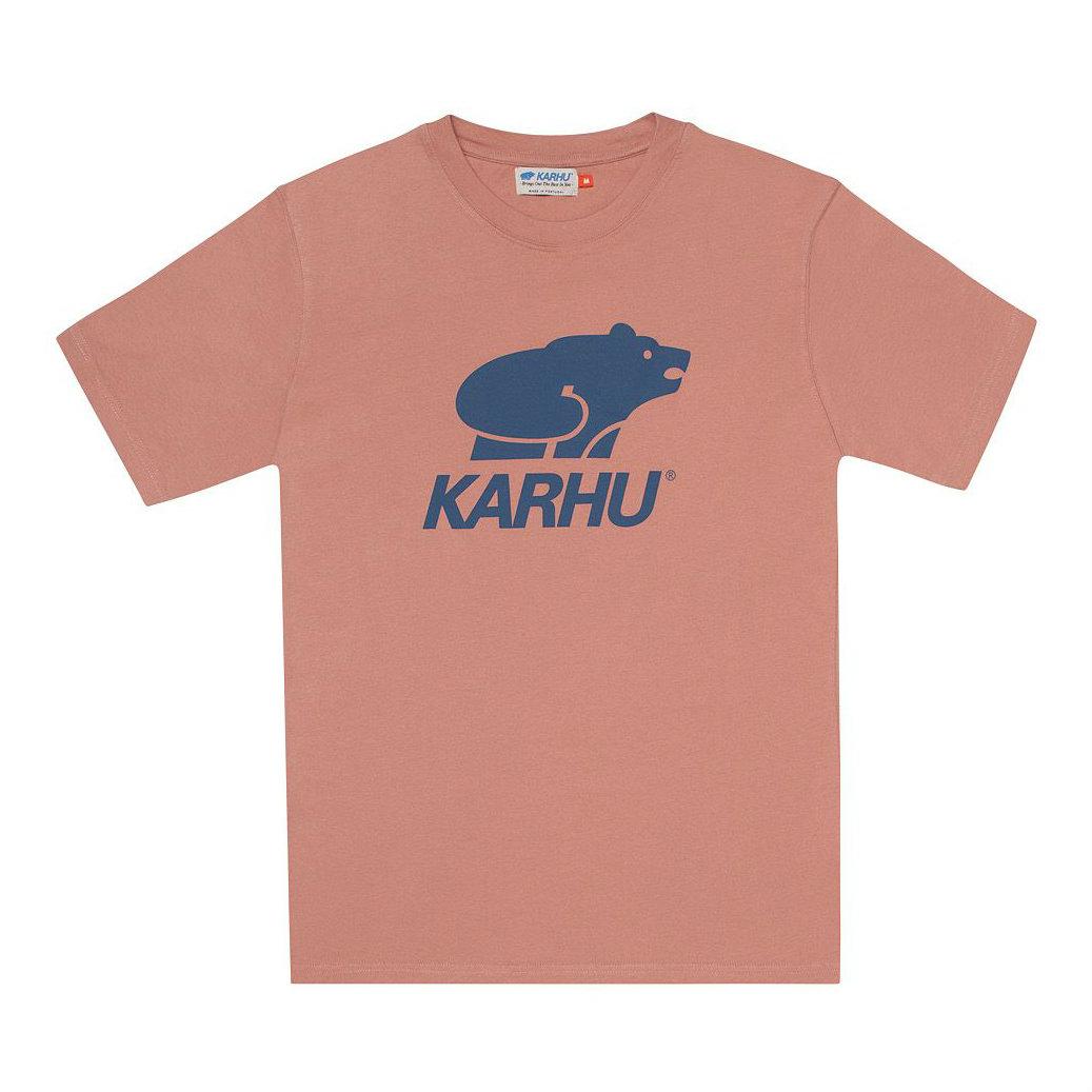 サムネイル:BasicLogo T-shirt ミューテッドクレイ / ネイビー(KARHU カルフ アパレル)