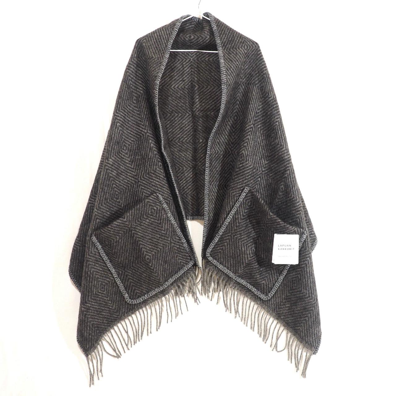 MARIA pocket shawl(black-grey)ラプアン カンクリ