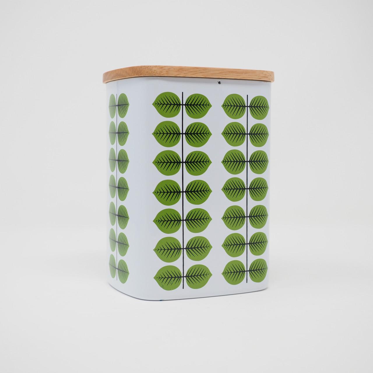 ベルサ ティン缶キャニスター(木蓋付き)