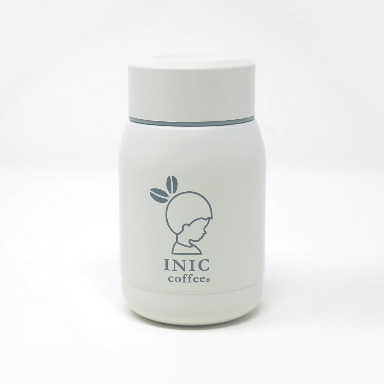 INIC×カフア ステンレスボトル ホワイト