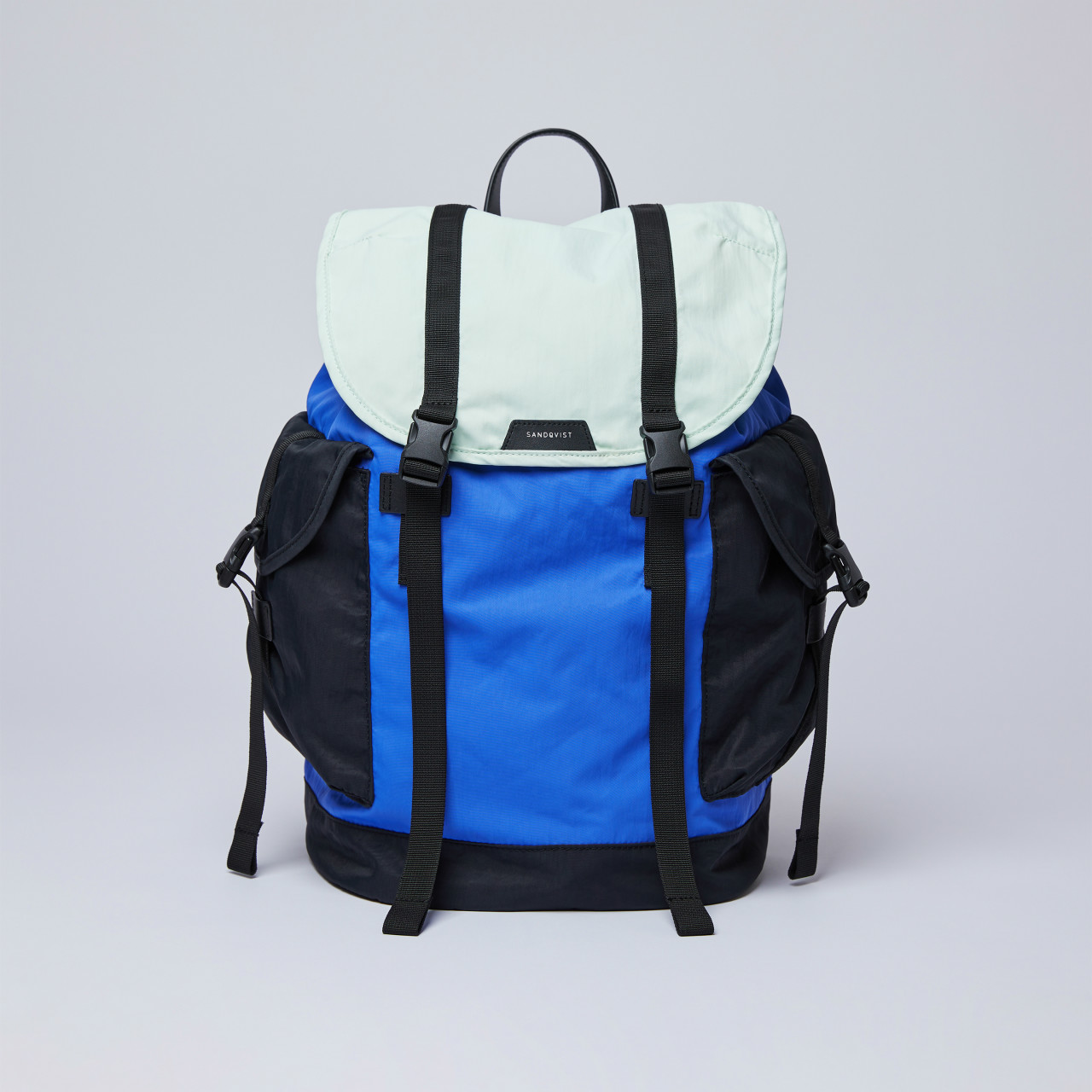 サムネイル:SANDQVIST サンドクヴィスト CHARLIE Multi color Blue/Green/Black leather