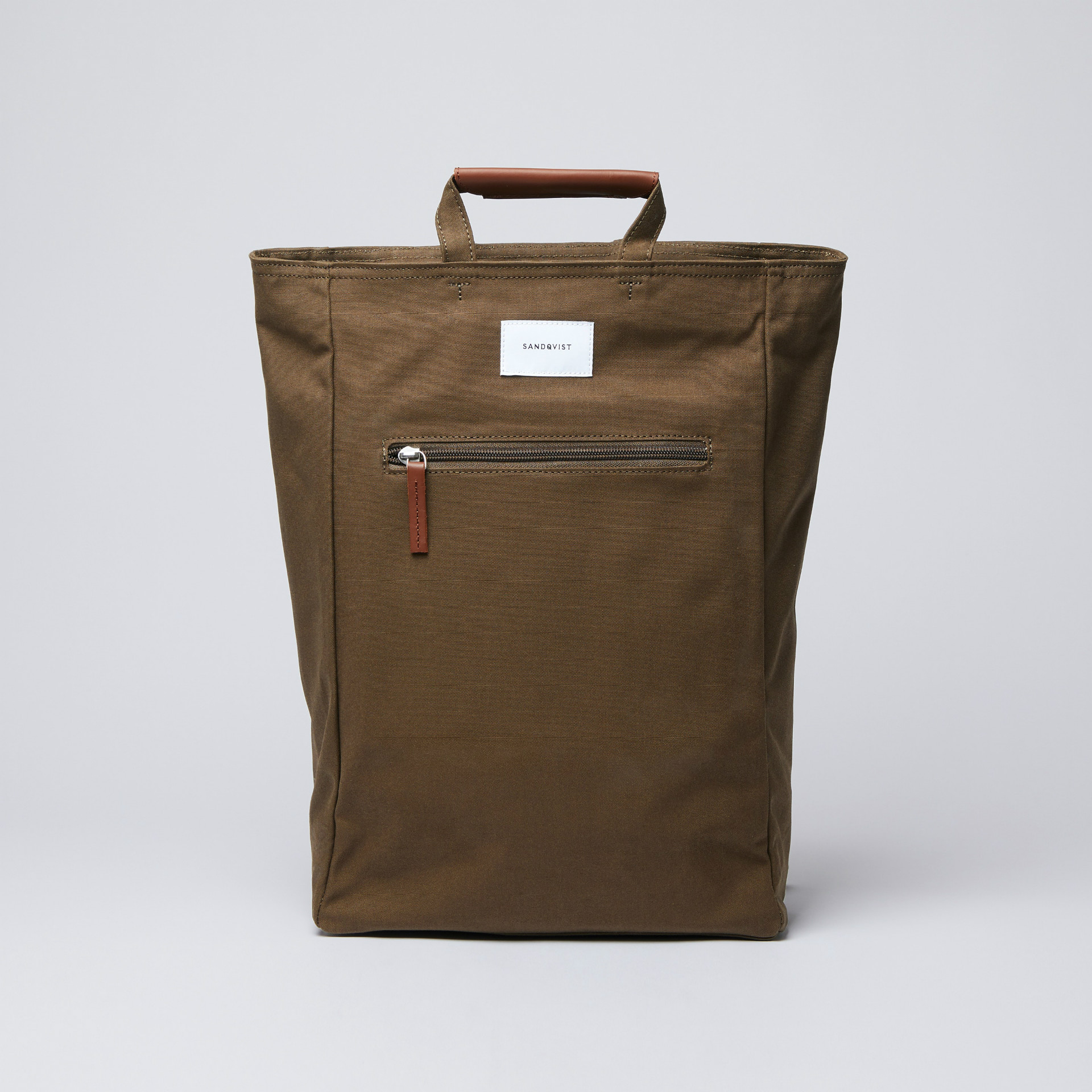 SANDQVIST サンドクヴィスト Olive with Cognac Brown Leather