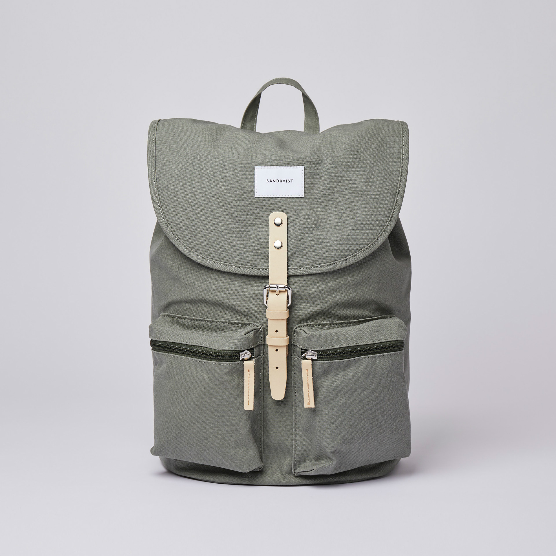 サムネイル:SANDQVIST サンドクヴィスト ROALD Dusty green with natural leather