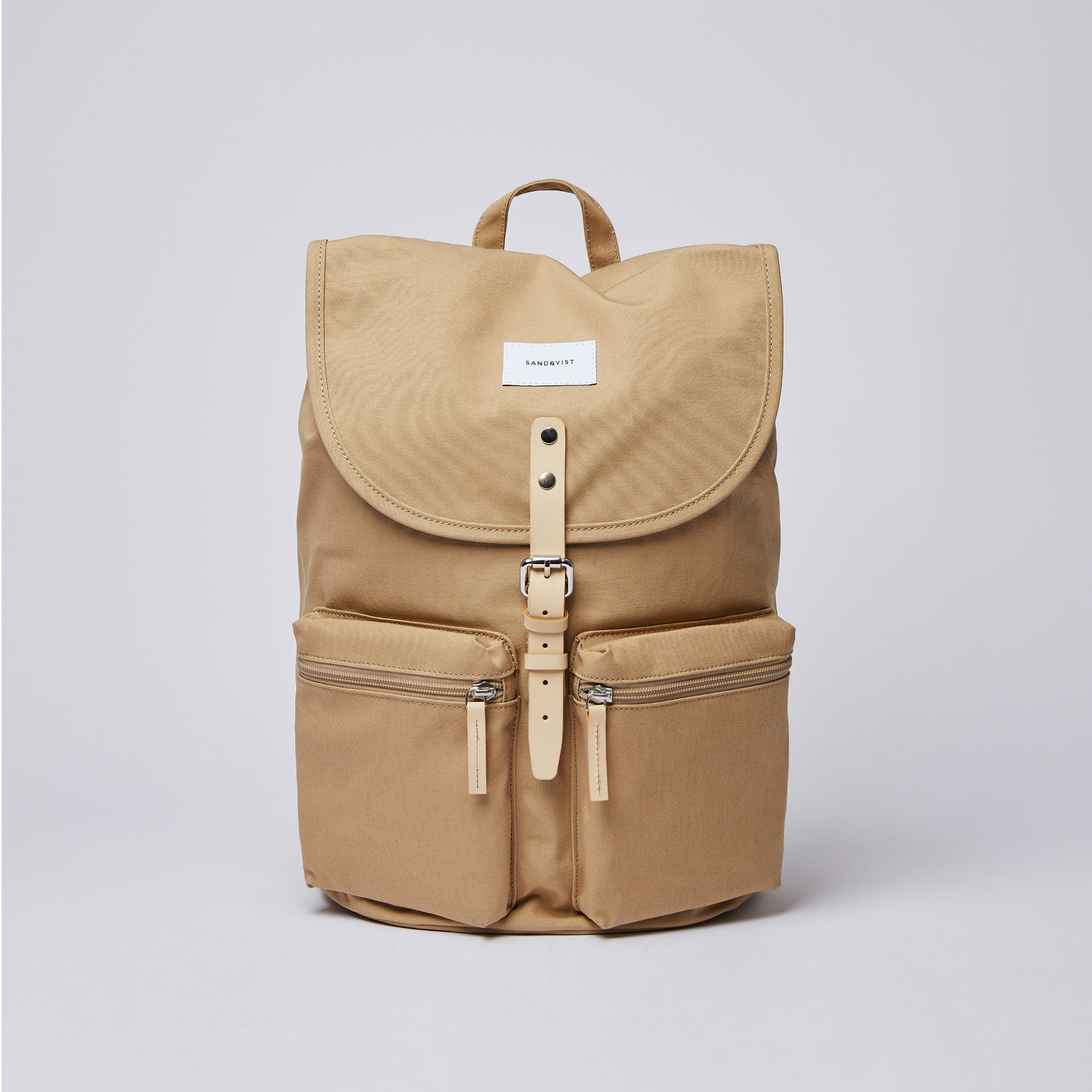 サムネイル:SANDQVIST サンドクヴィスト ROALD Beige with Natural Leather