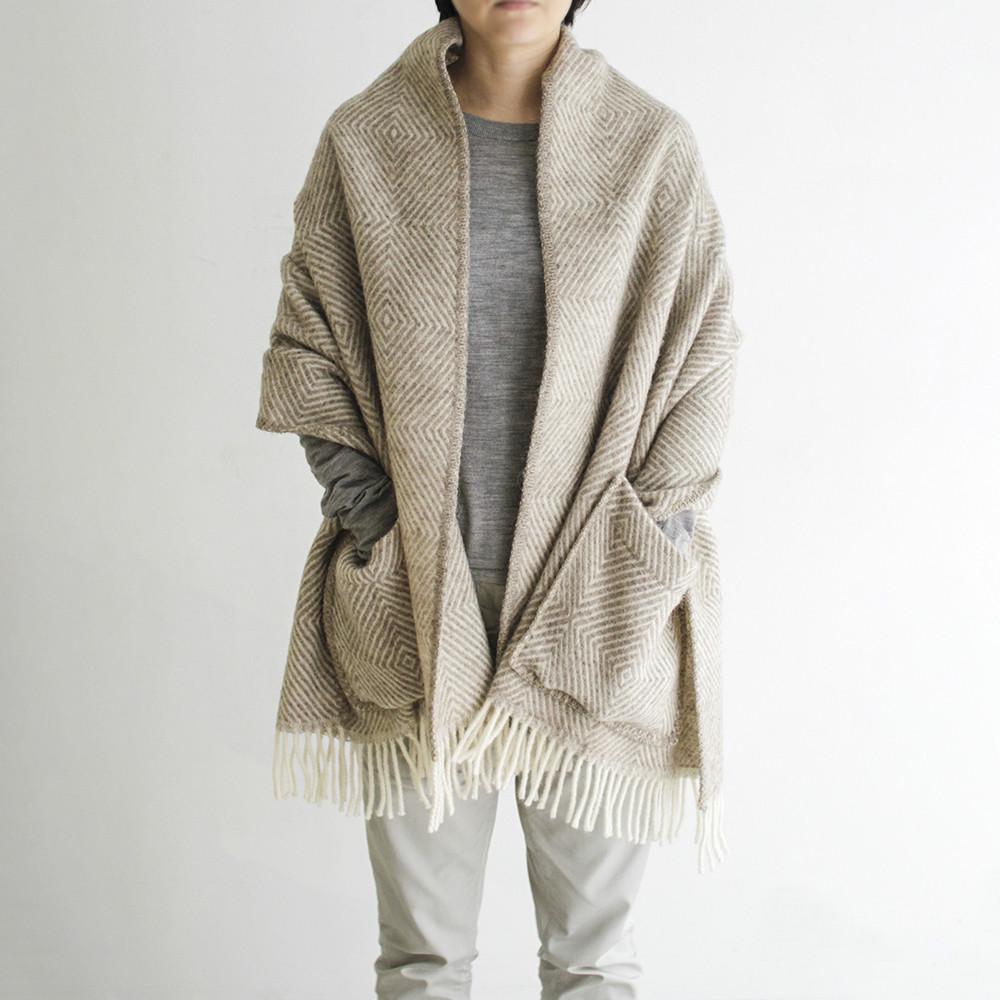 ポケットショール MARIA(brown-white)LAPUAN KANKURIT ラプアンカンクリ