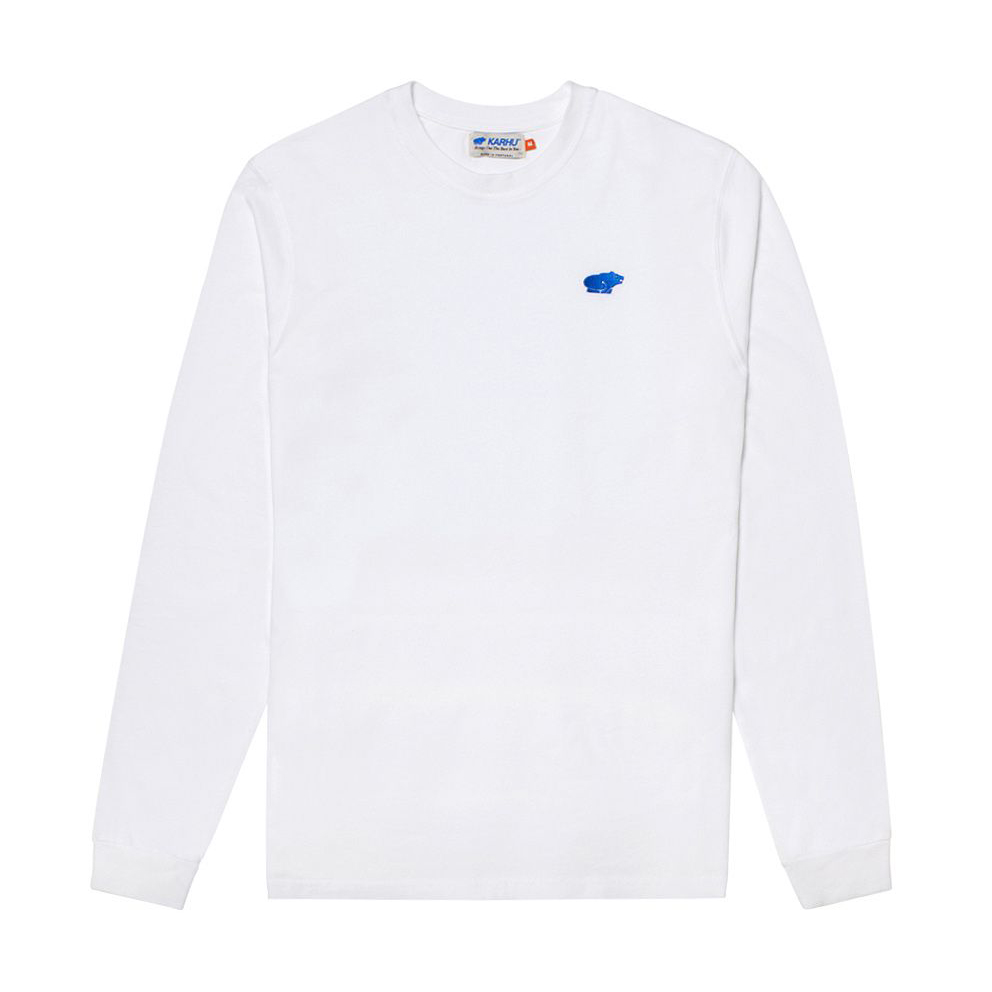 KARHU カルフ Tシャツ長袖 AIR CUSHION T-SHIRT WHITE