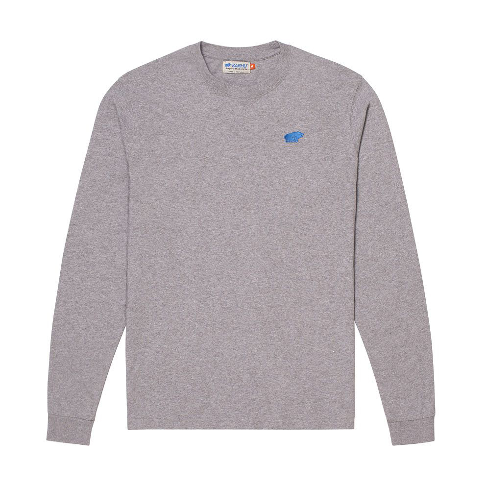 KARHU カルフ Tシャツ長袖 AIR CUSHION T-SHIRT HEATHER GREY