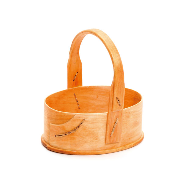 木製バスケット ハンドル付きM スカンジナビスク・ヘムスロイド